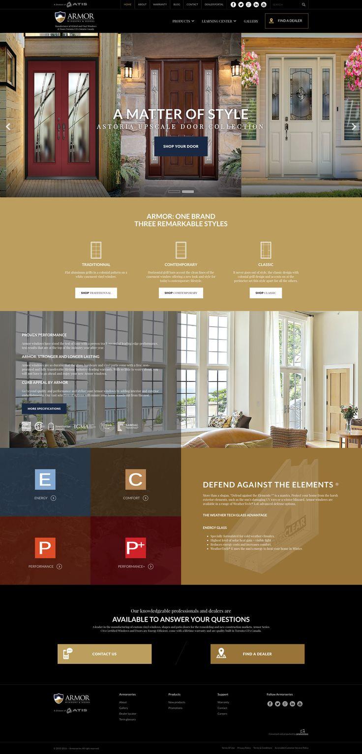 Nos Réalisations: Nouveau site internet de portes et fenêtres  #webdesign #portes #fenêtres