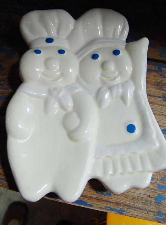 Vintage Cute Couple Pillsbury Dough Boy