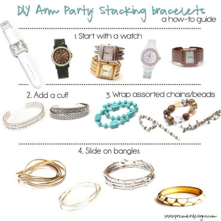 How to stack bracelets using Premier Designs Jewelry.  #PremierDesigns jessicanatali.mypremierdesigns.com
