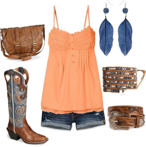"""(:"" by hotcowboyfan ❤ liked on Polyvore ~~country fashion~~"