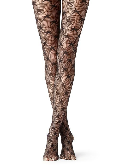 90706b945 Shop our star patterned fishnet tights. Available in black and a  multi-color print. Let your legs be your lucky star. Get Noticed.
