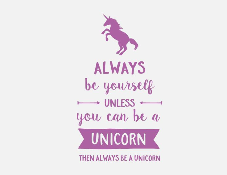 Get this gorgeous Always Be Yourself - Unicorn Wall Letter Quote for your kid's bedroom, custom made from our removable wall decal vinyl, that easily sticks to most surfaces. It's an easy and affordable way to personalise a space that will look like it's been hand painted by a professional!  Preview your wall letter quote before you buy in lots of different colours.