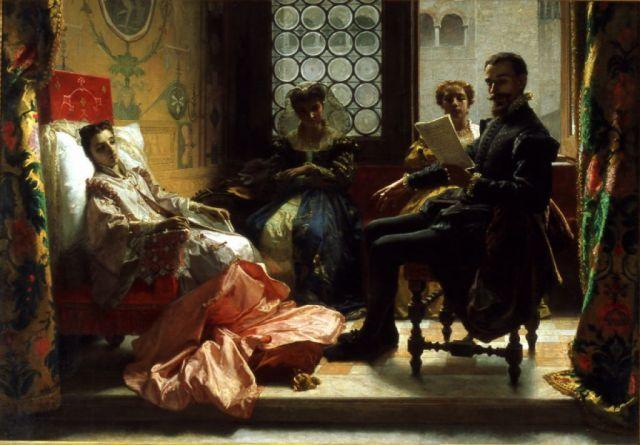 Domenico Morelli - Torquato Tasso legge la Gerusalemme liberata ad Eleonora d'Este