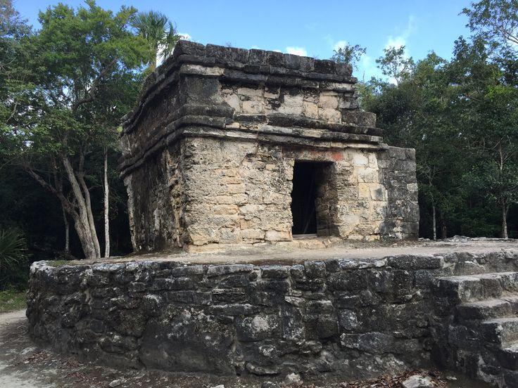 Mayan ruins site at San Gervasio, on Cozumel Island, MX