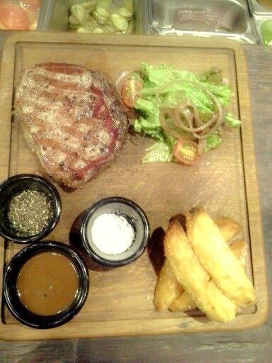 40 days dry-aged Ribeye Angus steak