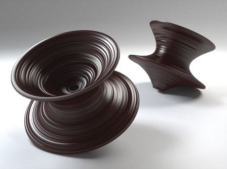 Thomas Heatherwick presented a chair resembling a spinning top at the Salone Internazionale del Mobile in 2010