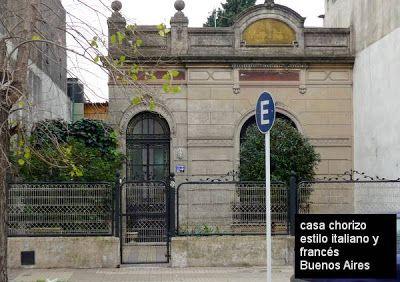 Fachada casa chorizo con estilo italiano y franc s bs - Casas con estilo ...