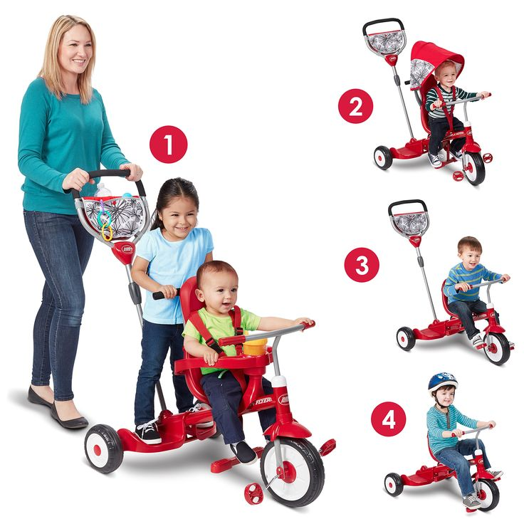 Radio Flyer Deluxe Ride and Stand Stroll N Trike More