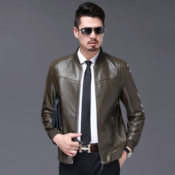 Men's Leather Jackets Spring and Autumn Slim Fit Faux Leather Jacket Casual Coats Stand Collar Men PU Leather Large Size winter *** AliExpress Affiliate's buyable pin. Item can be found  on www.aliexpress.com by clicking the image