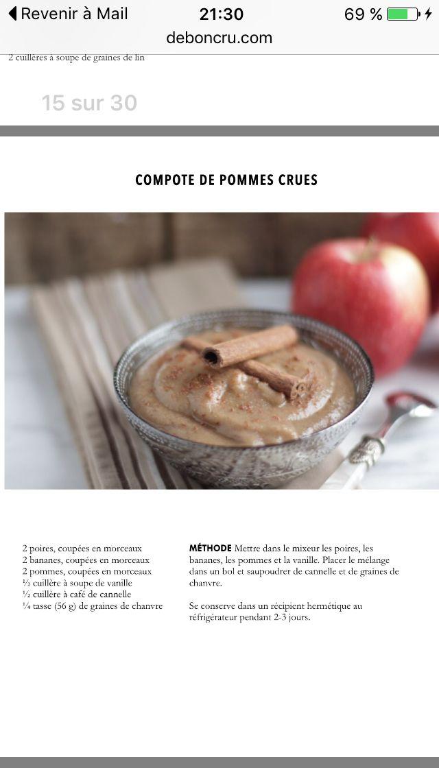 Compote de pommes (De bon cru)