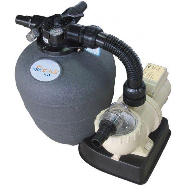 Kit de Filtration piscine hors sol - POOLSTYLE -- Débit de 8 m3/h pour piscine jusqu'à 25m3 --   Puissance de 3/4CV