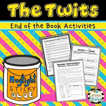 Use this 17 page activity pack as a fun way to wrap up your study of The Twits, by Roald Dahl. This resource includes 7 creative activities for students to complete after they have finished the book, along with Culminating Project Choices. Focuses include character