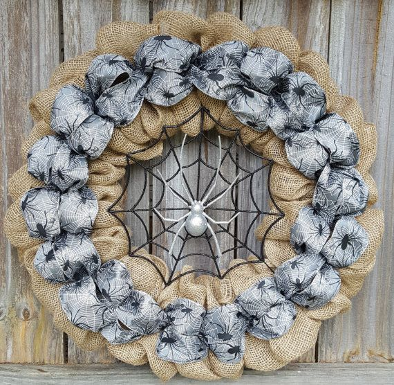 Halloween Wreath Halloween Burlap Wreath Halloween Decor