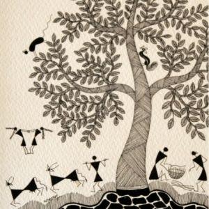 Warli art by jivya soma mashe online shopping India   IndianRoots ...