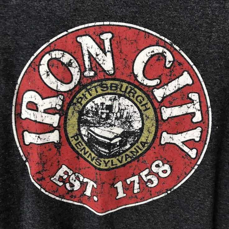 Iron City Beer Logo T-shirt Pittsburgh Pennsylvania Est 1758 Charcoal Grey 3XL  | eBay