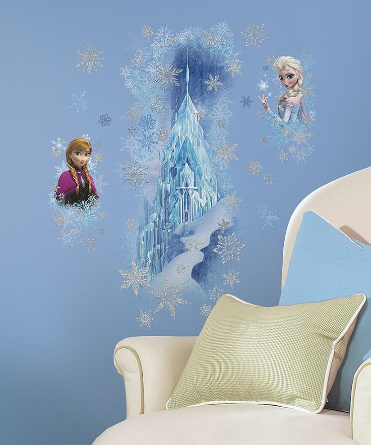 Love this Frozen Ice Palace Peel & Stick Giant Wall Decals by Frozen on #zulily! #zulilyfinds