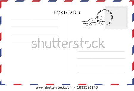 Postcard Card Post Vector Postal Template Back Vintage