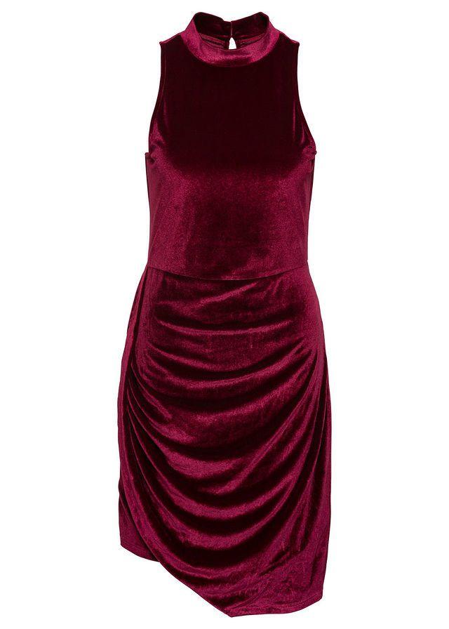 Asszimetrikus bársony ruha Divatos • 5999.0 Ft • bonprix