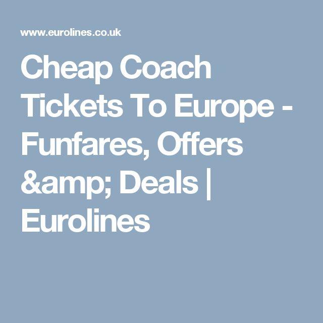 Cheap Coach Tickets To Europe - Funfares, Offers & Deals | Eurolines