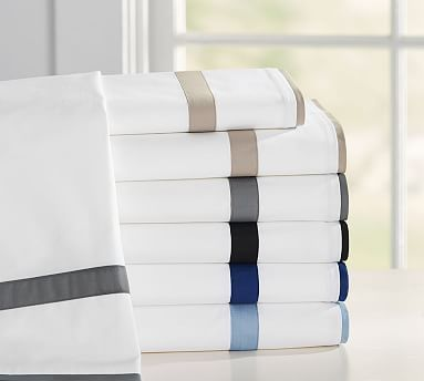 Morgan Banded 400-Thread-Count Sheet Set #potterybarn