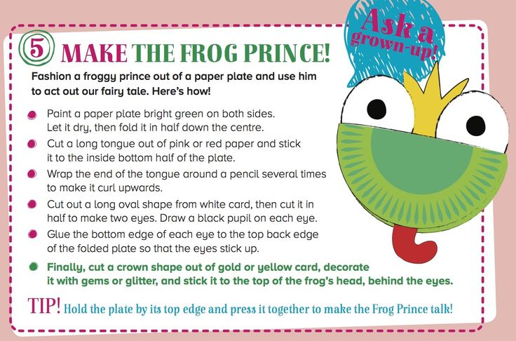 Make your own Frog Prince puppet to act our Storytime Issue 21's Favourite Fairy Tale! ~ In STORYTIMEMAGAZINE.COM