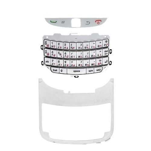 BlackBerry Torch 9800 Arabic Keypad Keyboard with Keypad Supporting Frame - White (OEM)