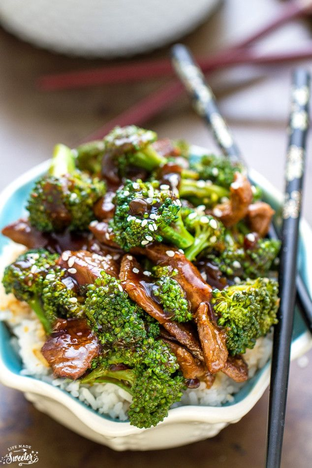 Beef and Broc�ef and Broccoli makes the perfect easy flavorful weeknight meal. Best of all, this skinny version is so much better than takeout and takes only 25 minutes