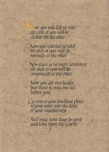 wiccan wedding vows   Wedding Stationery: Vows and Poems