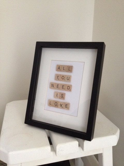 Scrabble art All you need is love