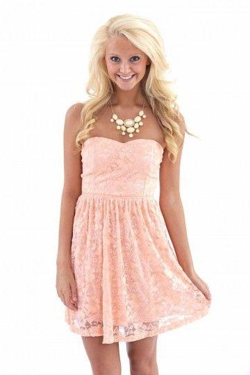 Definition of Darling Dress-Peach