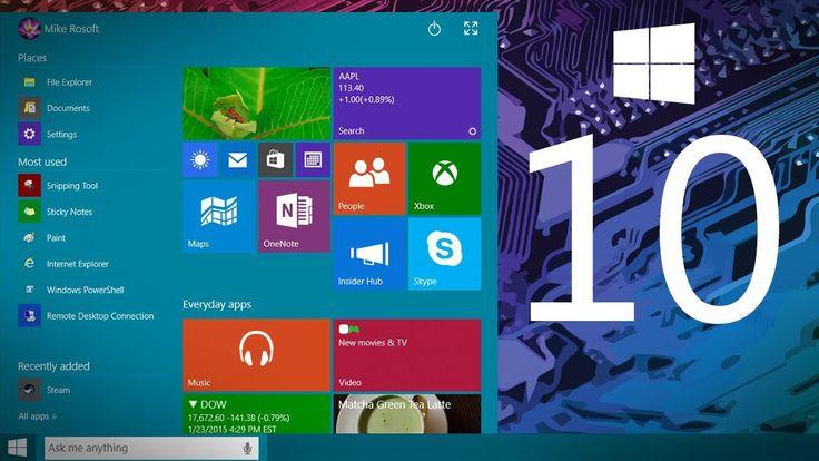 Windows 10 irá contar com suporte gratuito até 2025
