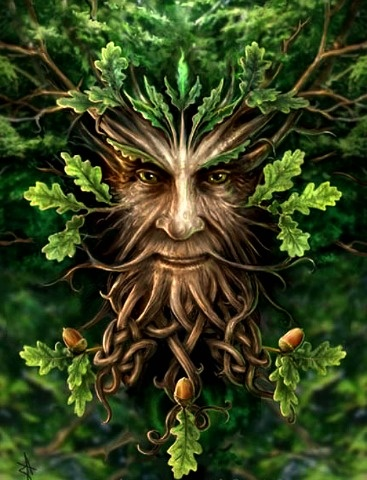 Found in many cultures from many ages around the world, the Green Man is often related to natural vegetative deities. It is primarily interpreted as a symbol of rebirth, representing the cycle of growth each spring. Some speculate that the mythology of the Green Man developed independently in the traditions of separate ancient cultures and evolved into the wide variety of examples found throughout history..
