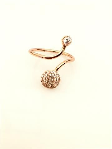 La Bella Donna - Γυναικειο δαχτυλιδι με στρας και λευκη πετρα