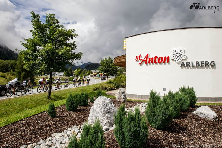 ARLBERG Giro - closed to the finishing line. After 150 kilometres with a gruelling ascent of 2,500 metres in altitude the cyclists reach St. Anton am Arlberg again. | Tyrol | Austria