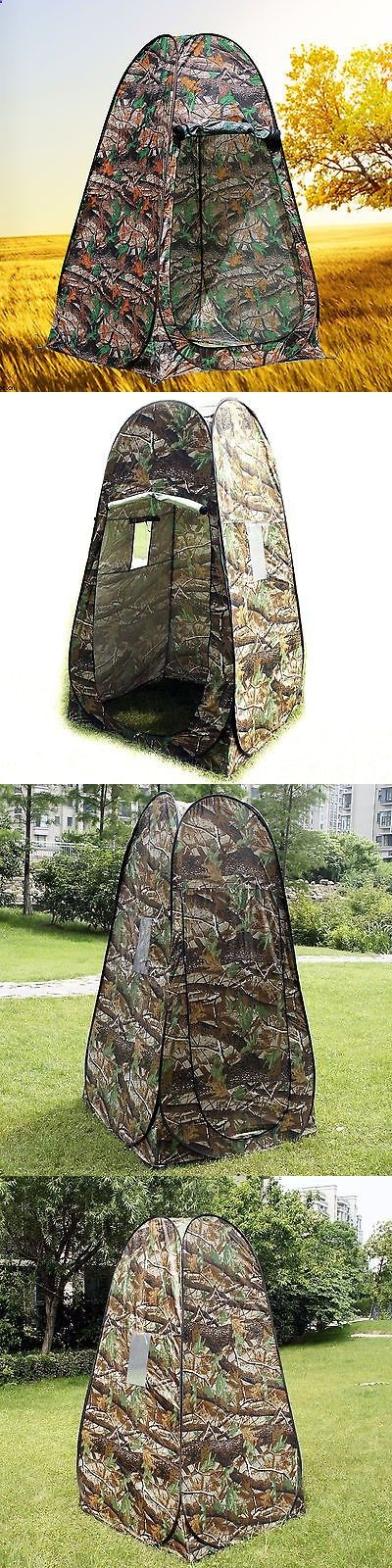 Other Camping Hygiene Accs 181400: Gazelle Camo Portable Camping Toilet Pop Up Tent Privacy Shower Changing Room BUY IT NOW ONLY: $31.79