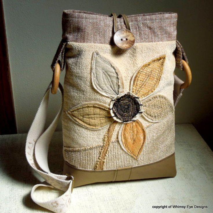 OOAK CROSSBODY HOBO Bag-Tablet Bag-Notebook by WhimsyEyeDesigns