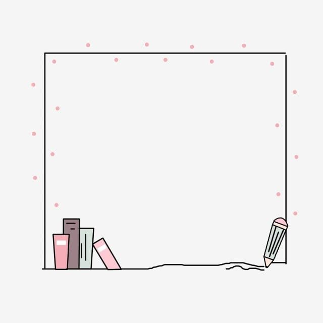 Cute Minimalistic Cartoon Creative Hand Drawn Stationery Border Simple Lovely Cartoon Png Transparent Clipart Image And Psd File For Free Download Inspiracao Bullet Journal Doodle Frames Bordas Coloridas
