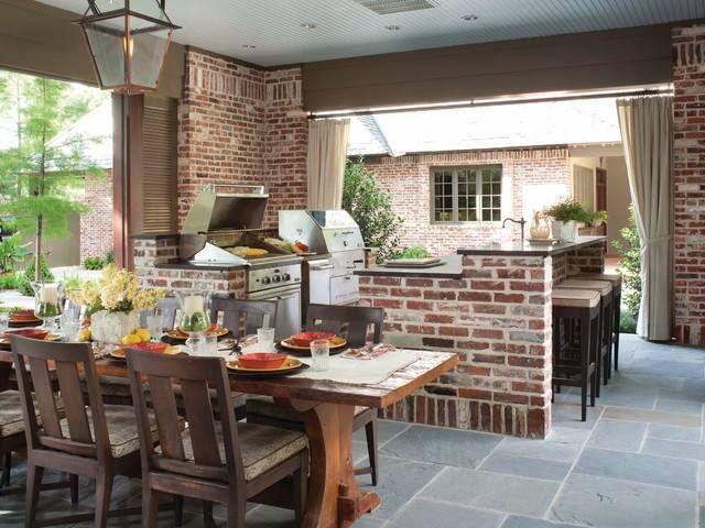 Nice Outdoor Kitchen · Interior Design MagazinePatio IdeasYard ...