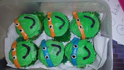 Teenage Mutant Ninja Turtles by Crèmè de la crèmè Cupcakes