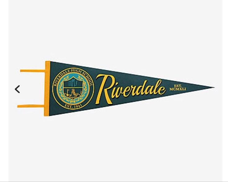 New Riverdale high school felt pennant hot topic exclusive wb tv show sold out  | eBay