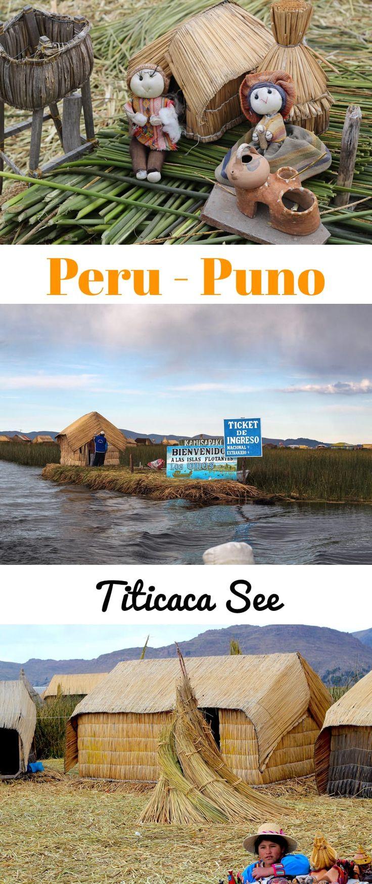 Titicaca See mit Besuch der schwimmenden Schilf Inseln - Uros Inseln.
