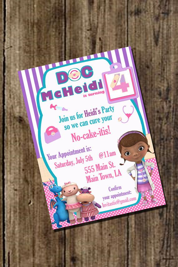 Doc McStuffins Birthday Invitation  Disney by InvitasticInvites, $10.00