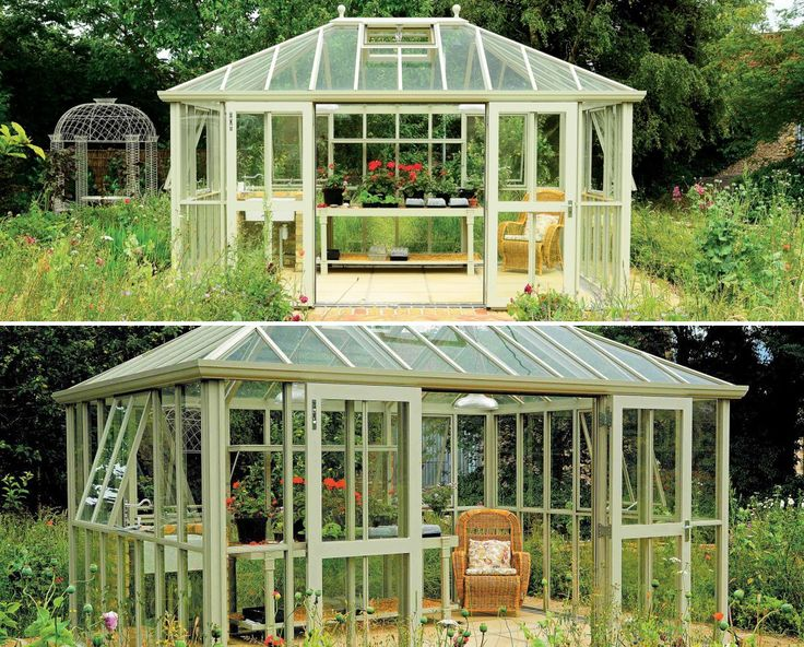 Great Westminster contemporary aluminum greenhouse by Hartley Botanic