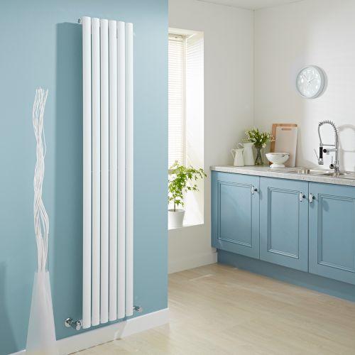 Smarten up your kitchen with the Milano Aruba vertical designer radiator