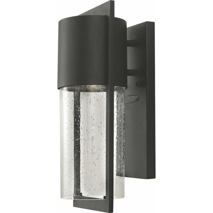 bedeck your outdoors with the beautiful hinkley lighting dwell wall lantern it is constructed from cast aluminum and seeded glass shade in a