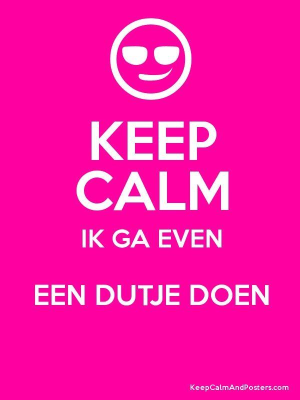 Keep calm - Ik ga even een dutje doen