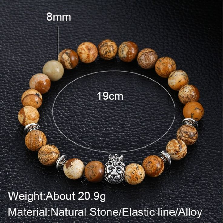 17KM Buddha Bead Bracelet Brand Design Natural Stone Bracelets Unisex Charm Matte Onyx  Women Man Bracelets Gift Fashion JewelryBracelets