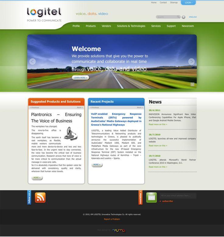 Η εταιρία τηλεπικοινωνιών Logitel μας ανέθεσε τη κατασκευή του site της που είχε ιδιαίτερες απαιτήσεις. Η ιστοσελίδα Logitel.gr καλύπτει ένα ευρύ φάσμα αναγκών της εταιρείας, όπως η ανάδειξη και παρουσίαση του τεράστιου προϊοντικού της καταλόγου, η διατήρηση του περιεχομένου σε δύο γλώσσες συγχρονισμένα, η προσαρμογή της εμφάνισης στις διαφορετικές ανάγκες κάθε περιοχής του site και η ενημέρωση του περιεχομένου από μη-ειδικευμένο προσωπικό.   www.logitel.gr