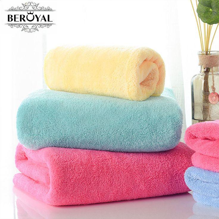 3PC Coral Fleece Towel Set Face/Bath Towel Washcloth Solid Hand Hair Towels Plain Quick Dry Towel Bathroom MMY Brand