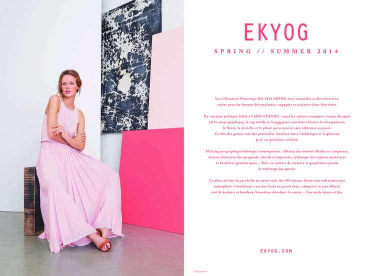 Page 2 - Look Book PE14 EKYOG #modepositive #green #spring #summer #collection2014